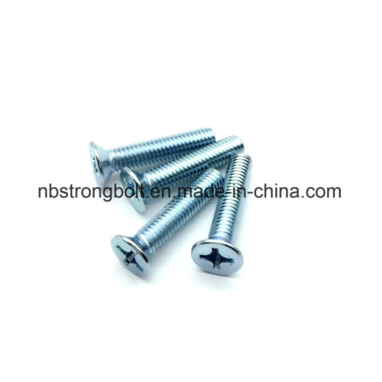 Zp Cruz Recessed Countersunk Flat Head Screw / China máquina parafuso fábrica, China máquina parafuso fabricante